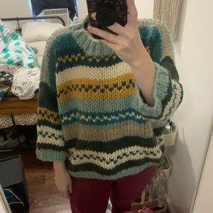 Funky 3/4 length Knit cardigan